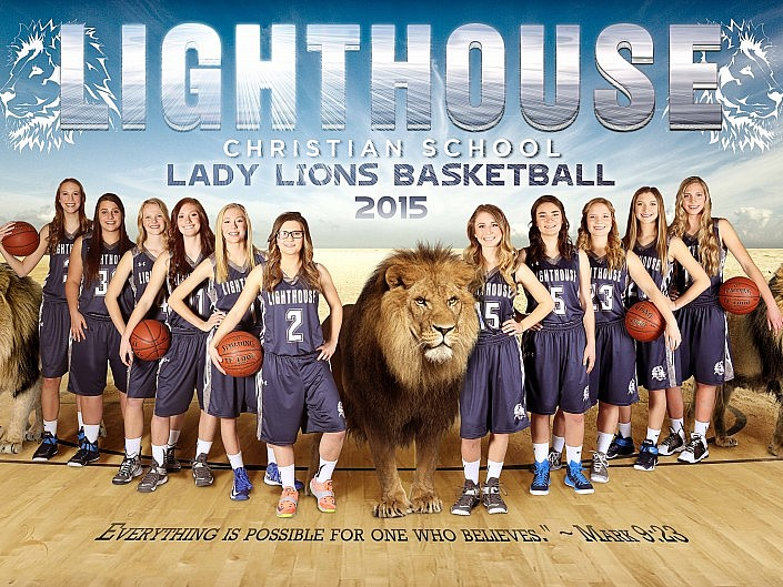 MBPhotography - Twin Falls, ID Model Photography - team composite - 2015 lighthouse basketball